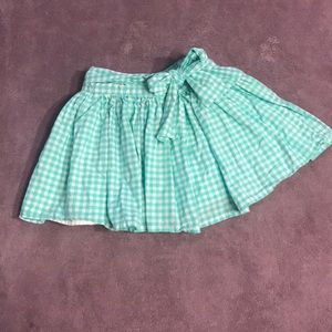 🔥4/20! Carters checkered skirt that ties in front